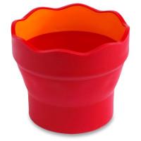 Kelímek na vodu Faber-Castell Click & Go červená
