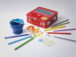 Farbičky Faber-Castell Jumbo Grip Cirkus v kufríku s príslušenstvom