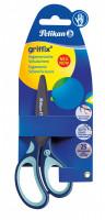 Dětské ergonomické nůžky Griffix s kulatou špičkou - pro praváky, modré, na blistru