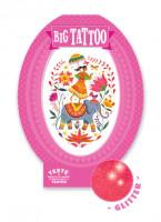 Tetování - růžová Indie