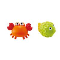 Stříkací krab s rybkou - hračka do vody