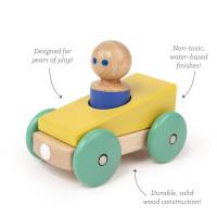 Magnetické autíčko TEGU - Yellow & Teal