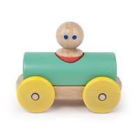 Magnetické autíčko TEGU - Teal & Yellow Racer
