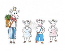 Marionetino - Loutkový balíček bez tyček - O neposlušných kůzlátkách