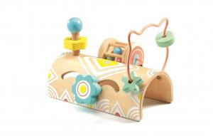 Motorická hračka - dřevěný tunel s aktivitami