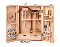 Kovové nářadí v dřevěném boxu - velké