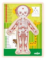 """Puzzle """"Ľudské telo"""" – Dievča SK"""