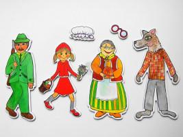 Marionetino - Loutkový balíček bez tyček - Červená karkulka