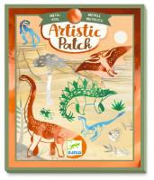 Umělecké koláže - Dinosauři