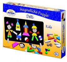 Magnetické puzzle - děti