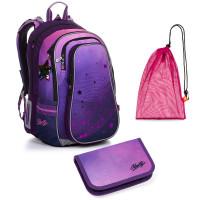 Sada pre školáčku LYNN 20008 G SET MEDIUM - školská taška, vrecko na prezuvky, školský peračník