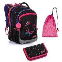Školní set Topgal COCO 20004 G batoh + penál + pytlík na přezůvky