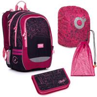 Set pre školáčku CODA 20009 G SET LARGE školská taška, vrecko na prezuvky, pláštenka na batoh, školský peračník