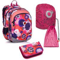 Set pre školáčku ELLY 20005 G SET LARGE školská taška, vrecko na prezuvky, pláštenka na batoh, školský peračník