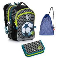 Set pre školáka COCO 20015 B SET MEDIUM - školská taška, vrecko na prezuvky, školský peračník