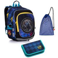 Set pre školáka ENDY 20013 B SET MEDIUM - školská taška, vrecko na prezuvky, školský peračník