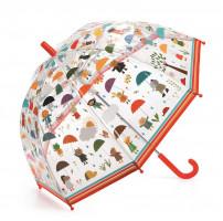 Dětský deštník - pod kapkami deště