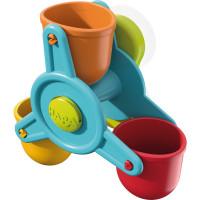 Kuličková dráha do vany s vodním mlýnem a trychtýřem