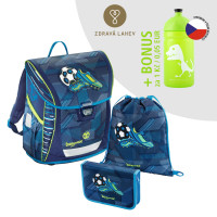 Školní aktovka - 3-dílný set, Baggymax Fabby Fotbal + zdravá lahev za 1 Kč