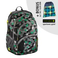 Školský batoh Coocazoo JobJobber2, Crazy Cubes + športový vak za 0,05 EUR