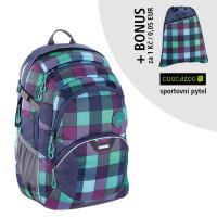 Školský batoh Coocazoo JobJobber2, Green Purple District + športový vak za 0,05 EUR