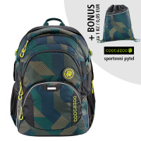 Školský batoh Coocazoo JobJobber2, Polygon Bric + športový vak za 0,05 EUR