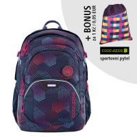 Školský batoh Coocazoo JobJobber2,Purple Illusion + športový vak za 0,05 EUR