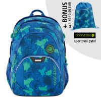 Školský batoh Coocazoo JobJobber2, Tropical Blue + športový vak za 0,05 EUR