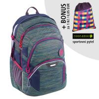 Školský batoh Coocazoo JobJobber2, Wildberry Knit + športový vak za 0,05 EUR