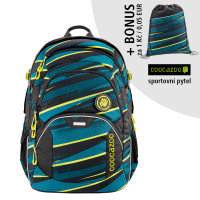Školský batoh Coocazoo JobJobber2, Wild Stripe + športový vak za 0,05 EUR