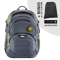 Školský batoh Coocazoo JobJobber2, Solid Shadowman + športový vak za 0,05 EUR