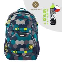 Školský batoh Coocazoo ScaleRale, Blue Geometric Melange + zdravá fľaša za 0,05 EUR