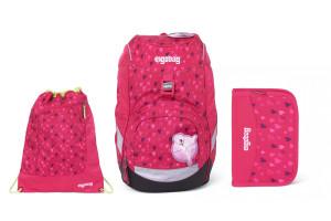 Školní set Ergobag prime Pink Hearts 2020 - batoh + penál + sportovní pytel