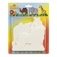 Hama Midi - podložky - slon, žirafa, lev, velbloud