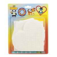 Hama Midi - podložky - kruh, srdce, napojovací čtverec, šestiúhelník