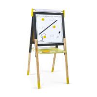 Magnetická obojstranná a polohovateľná  tabuľa - žltá a šedá