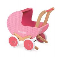 Dřevěný kočárek pro panenky - Mademoiselle