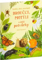 Broučci, motýli a další potvůrky - samolepková knížka