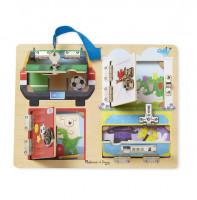 Melissa & Doug - Výuková hračka - odemykání zámků