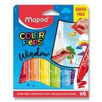 Fixky Maped Window na sklo – 6 farieb + handrička