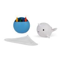 Velryba - kreslení do vany s voskovkami