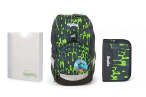 Školský set Ergobag prime Monster 2020 - batoh + peračník + dosky