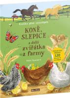 Koně, slepice a další zvířátka z farmy - samolepková knížka