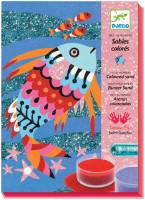 Výtvarná hra s pieskom Veselé rybky