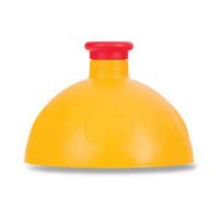 Náhradné viečko na Zdravú fľašu, žltá/červená