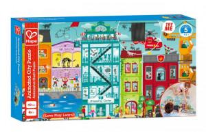 Puzzle - Animované městečko v pohybu, 49 dílků