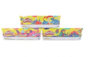 Play-Doh Balení 4 tuby - zelená, tyrkysová, tmavě modrá, oranžová