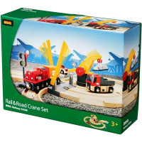 Brio - Vláčkodráha s nákladním vlakem, závorami a silničním přejezdem, 26 dílů