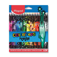Pastelky Maped Color'Peps Monster - 24 barev