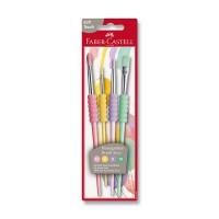 Štetce Faber-Castell Soft pastelové - 4 ks